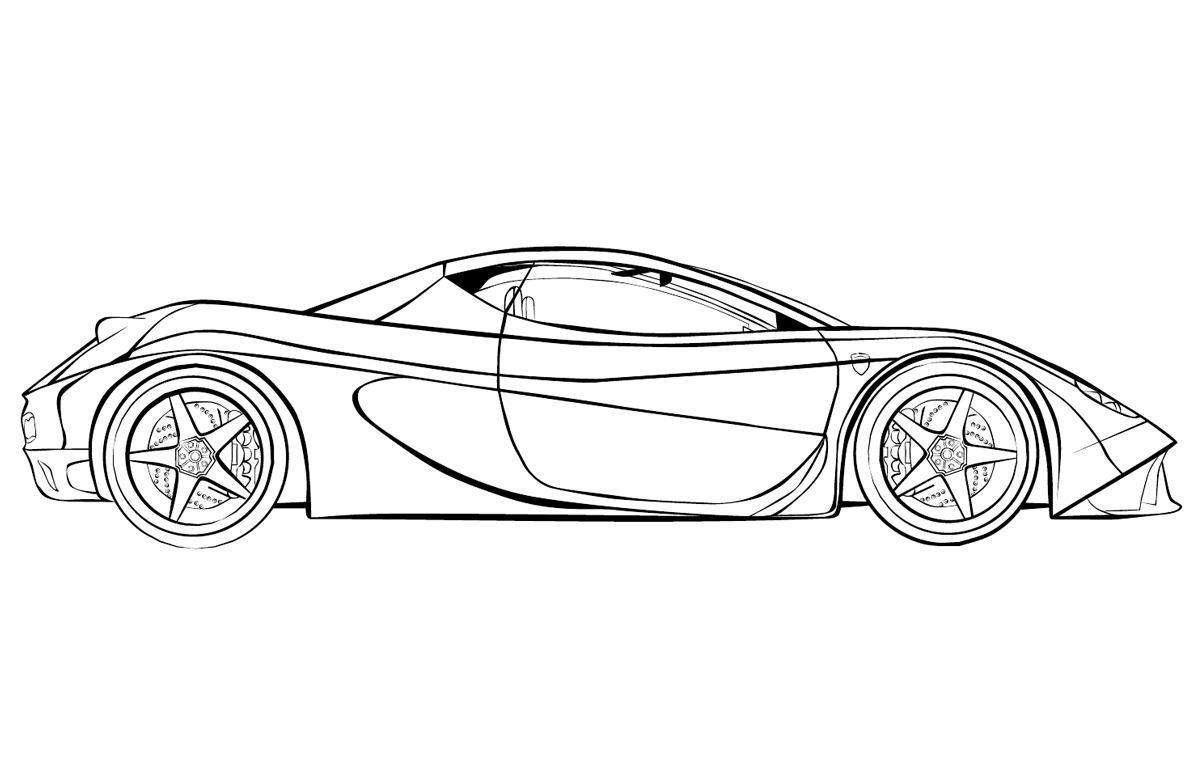 Ausmalbilder, Malvorlagen – Ferrari kostenlos zum Ausdrucken ...