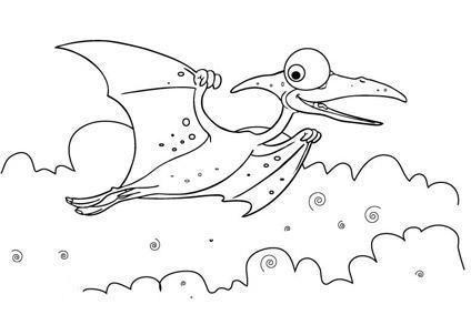ausmalbilder, malvorlagen - flugdinosaurier kostenlos zum ausdrucken   märchen aus aller welt