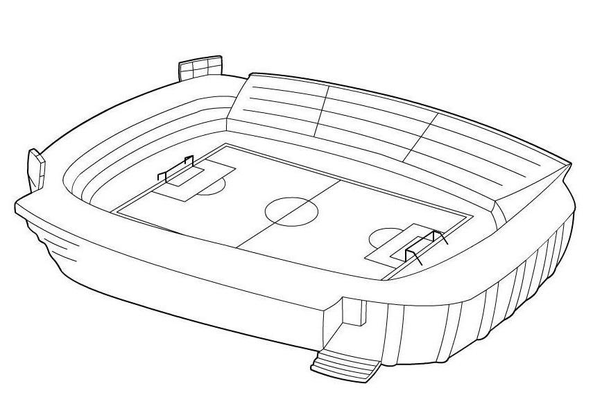 ausmalbilder malvorlagen  fußballstadion kostenlos zum