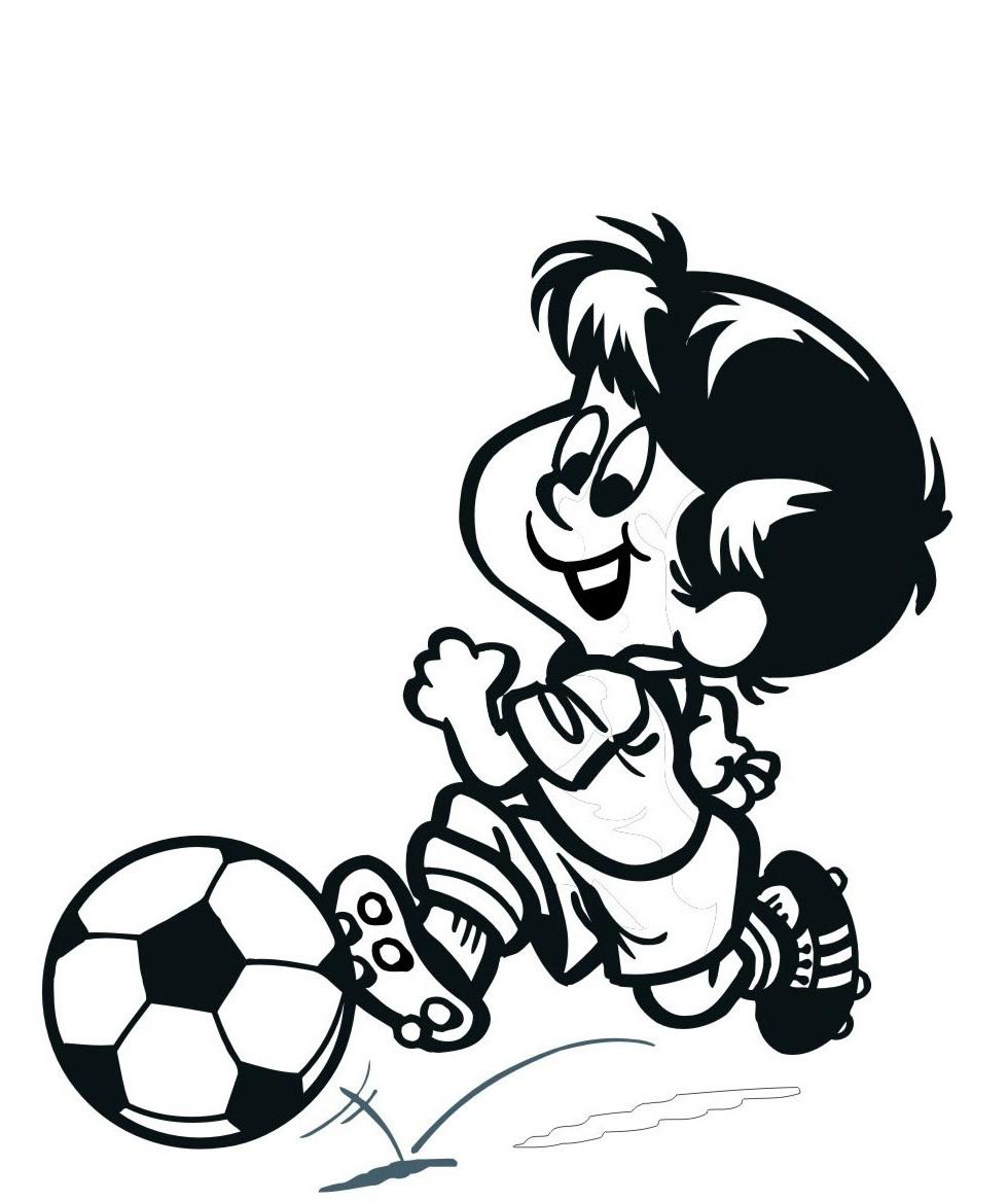 Ausmalbilder, Malvorlagen – Fußballspieler kostenlos zum