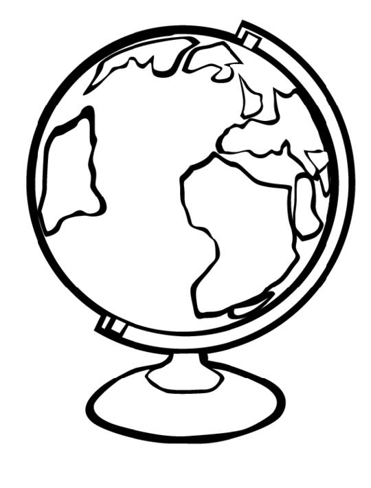 Ausmalbilder, Malvorlagen – Globus kostenlos zum Ausdrucken ...