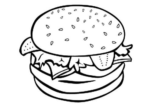 Ausmalbilder, Malvorlagen – Hamburger kostenlos zum Ausdrucken ...