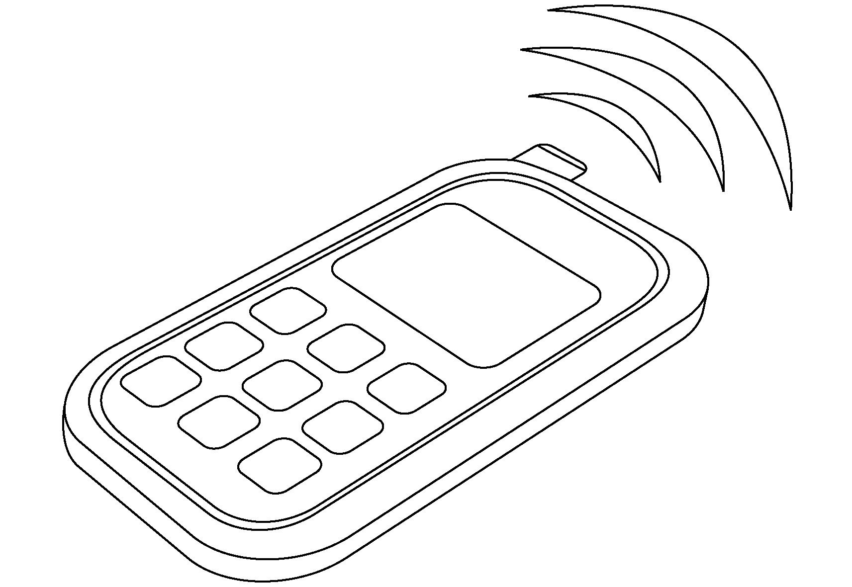 kleurplaat mobiele telefoon ausmalbilder malvorlagen