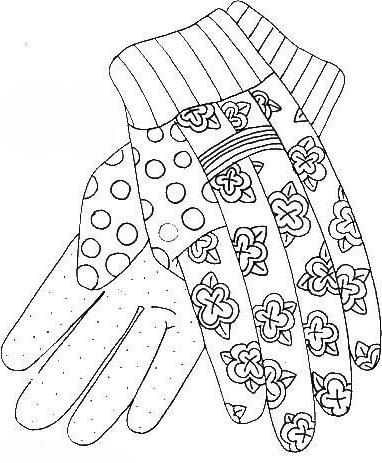 Ausmalbilder, Malvorlagen – Handschuhe kostenlos zum Ausdrucken ...