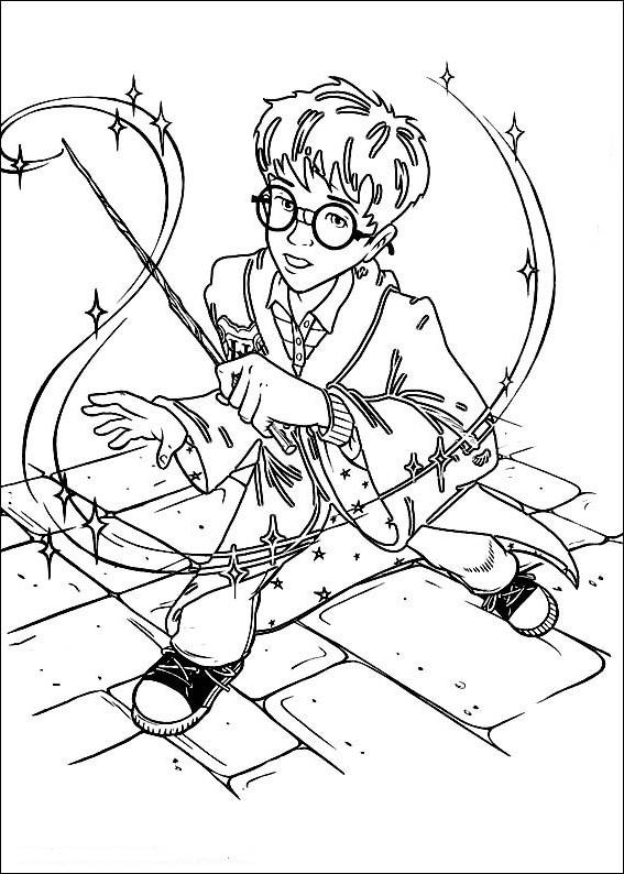 Ausmalbilder Malvorlagen von Harry Potter kostenlos zum