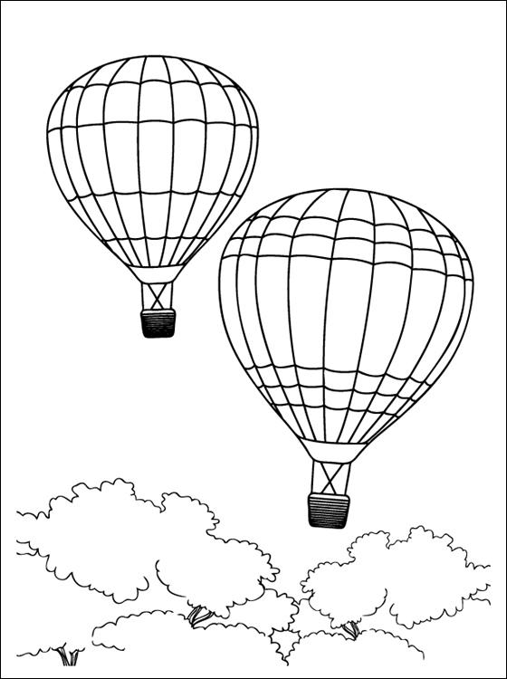 Ausmalbilder, Malvorlagen – Heissluftballon kostenlos zum Ausdrucken ...