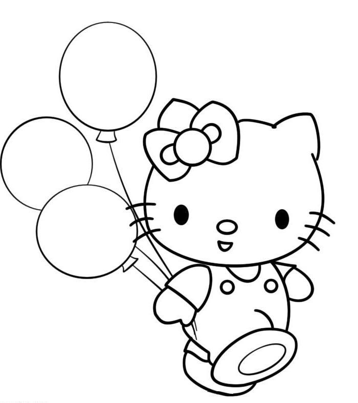 Ausmalbilder, Malvorlagen von Hello Kitty kostenlos zum Ausdrucken ...