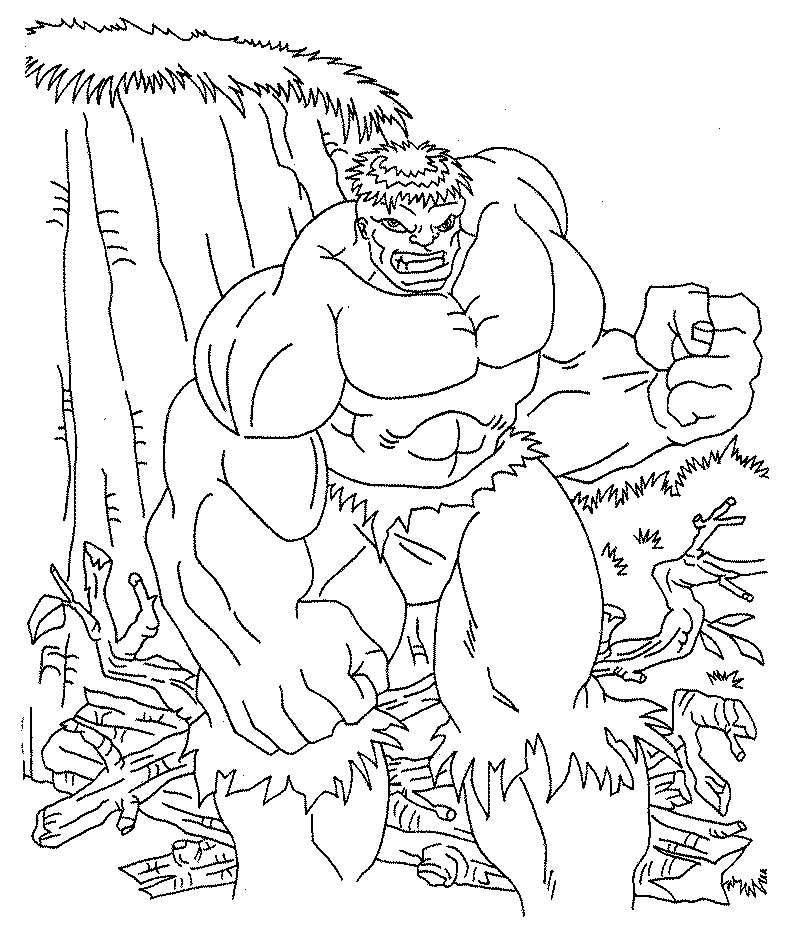 Ausmalbilder Hulk Hulk Zum Ausdrucken: Ausmalbilder, Malvorlagen Von Hulk Kostenlos Zum