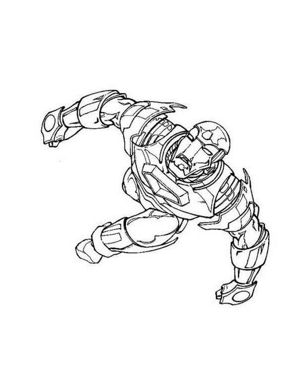 Ausmalbilder Malvorlagen Von Iron Man Kostenlos Zum Ausdrucken