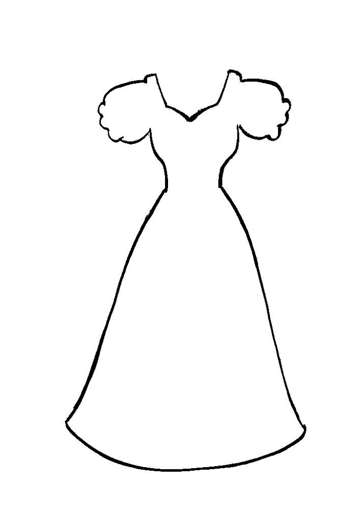 Ausmalbilder, Malvorlagen – Kleid kostenlos zum Ausdrucken | Märchen ...
