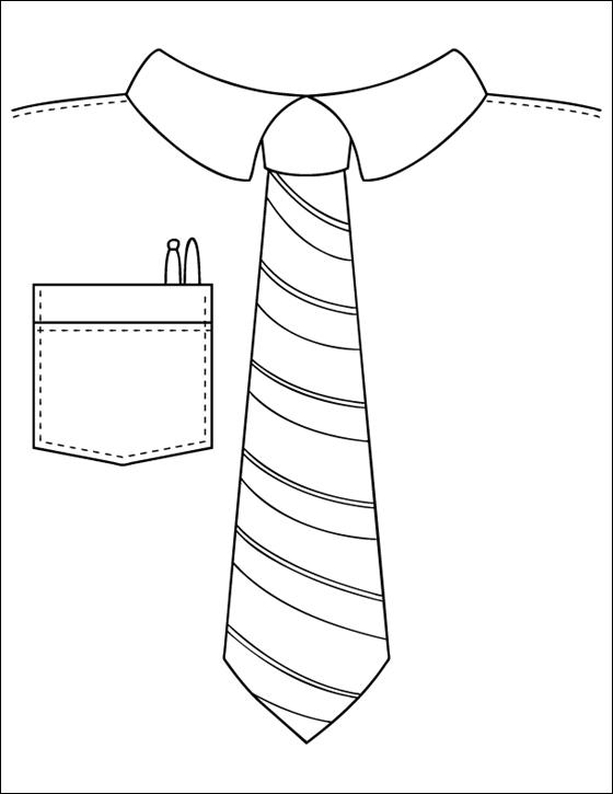 ausmalbilder malvorlagen  krawatte kostenlos zum