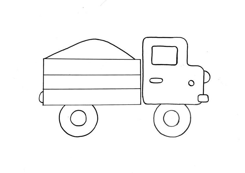 Ausmalbilder Malvorlagen Lastwagen Kostenlos Zum Ausdrucken
