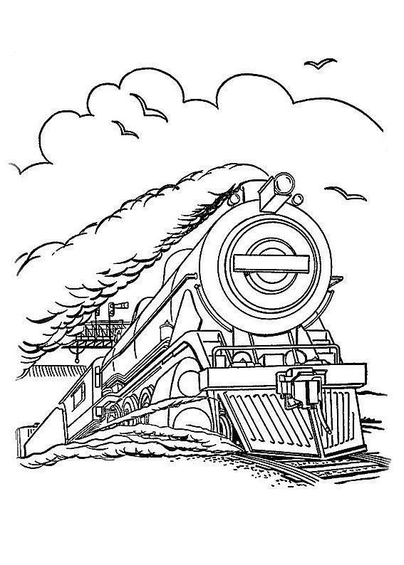 ausmalbilder, malvorlagen - lokomotive kostenlos zum
