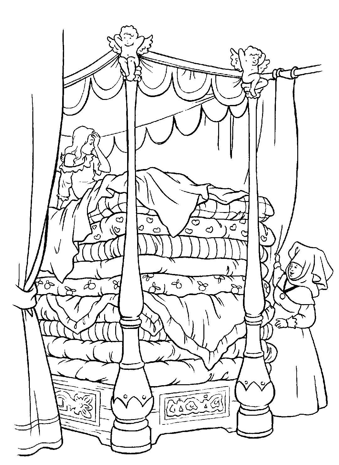 Prinzessin Auf Der Erbse Ausmalbild