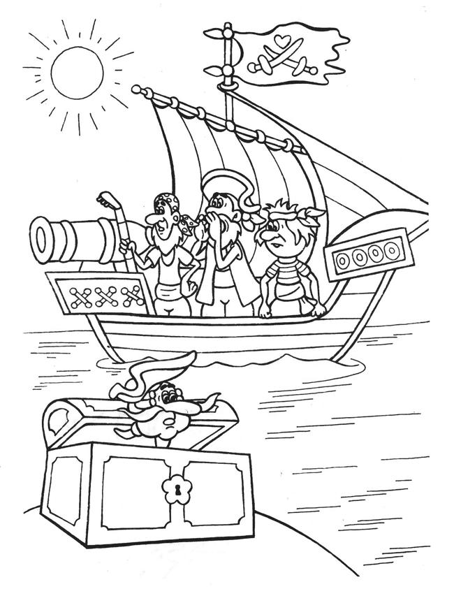 Ausmalbilder Malvorlagen Piratenschiff Kostenlos Zum Ausdrucken