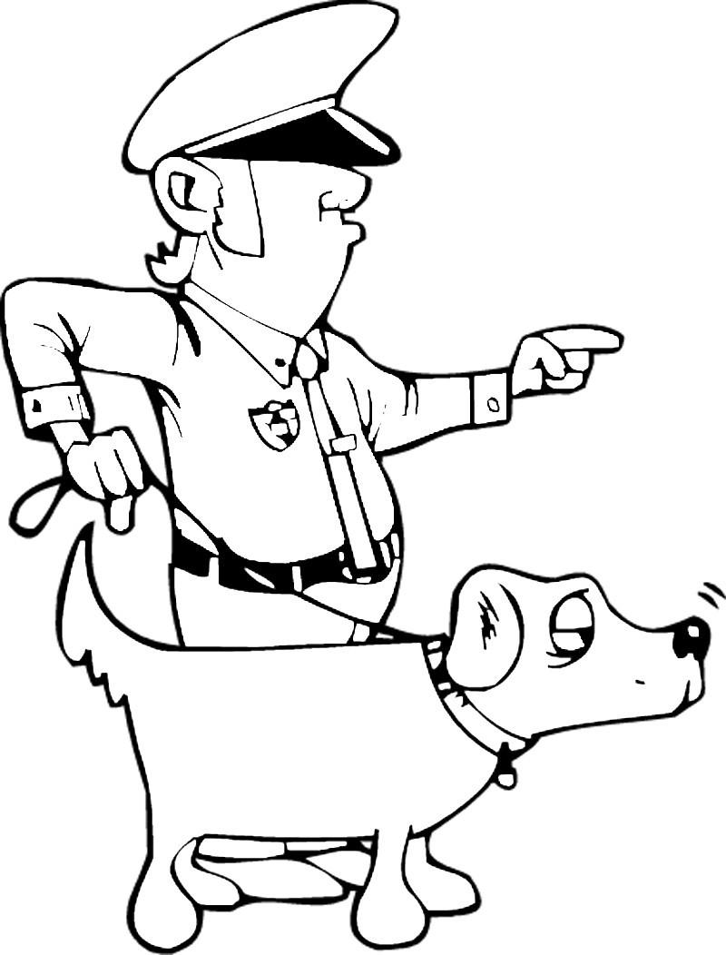 Ausmalbilder, Malvorlagen – Polizei kostenlos zum Ausdrucken