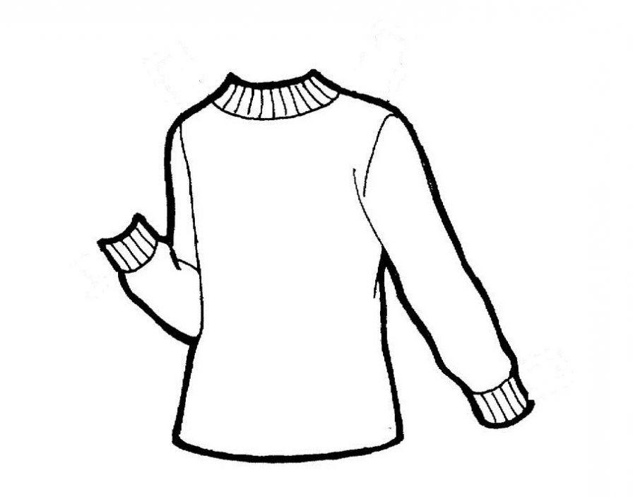 ausmalbilder malvorlagen  pullover kostenlos zum