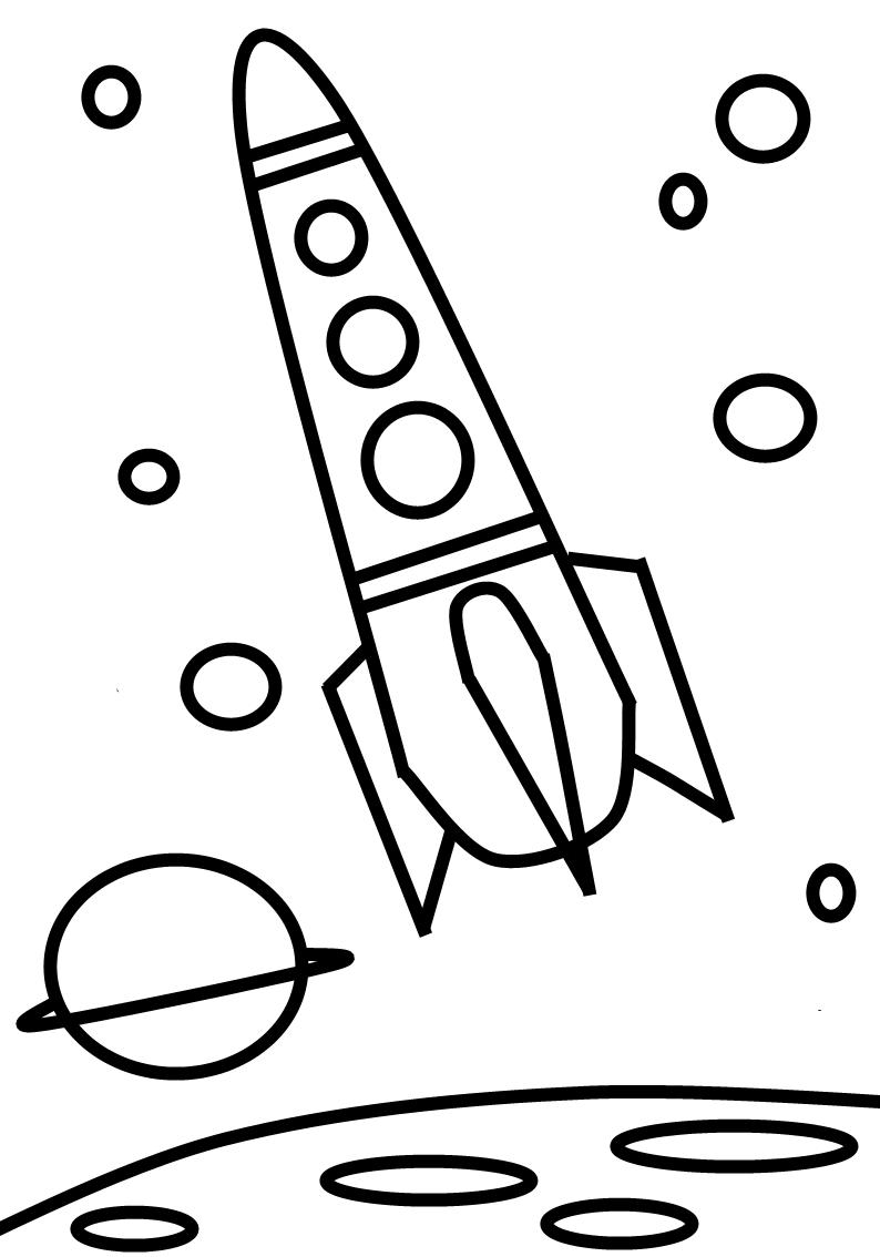Ausmalbilder, Malvorlagen – Rakete kostenlos zum Ausdrucken ...