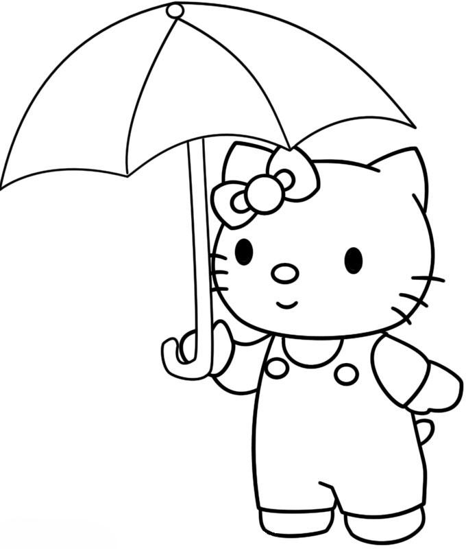 junge mit regenschirm ausmalbild