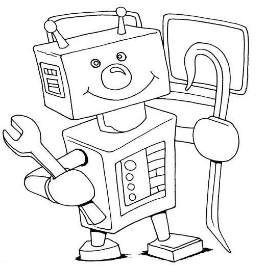 ausmalbilder malvorlagen  roboter kostenlos zum