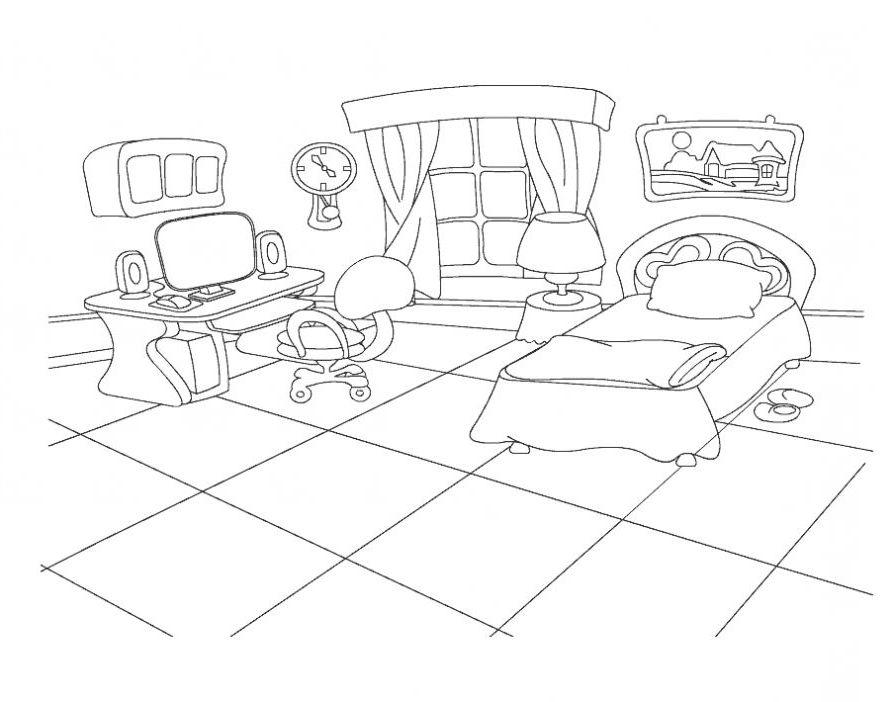 ausmalbilder malvorlagen schlafzimmer kostenlos zum ausdrucken m rchen aus aller welt der. Black Bedroom Furniture Sets. Home Design Ideas