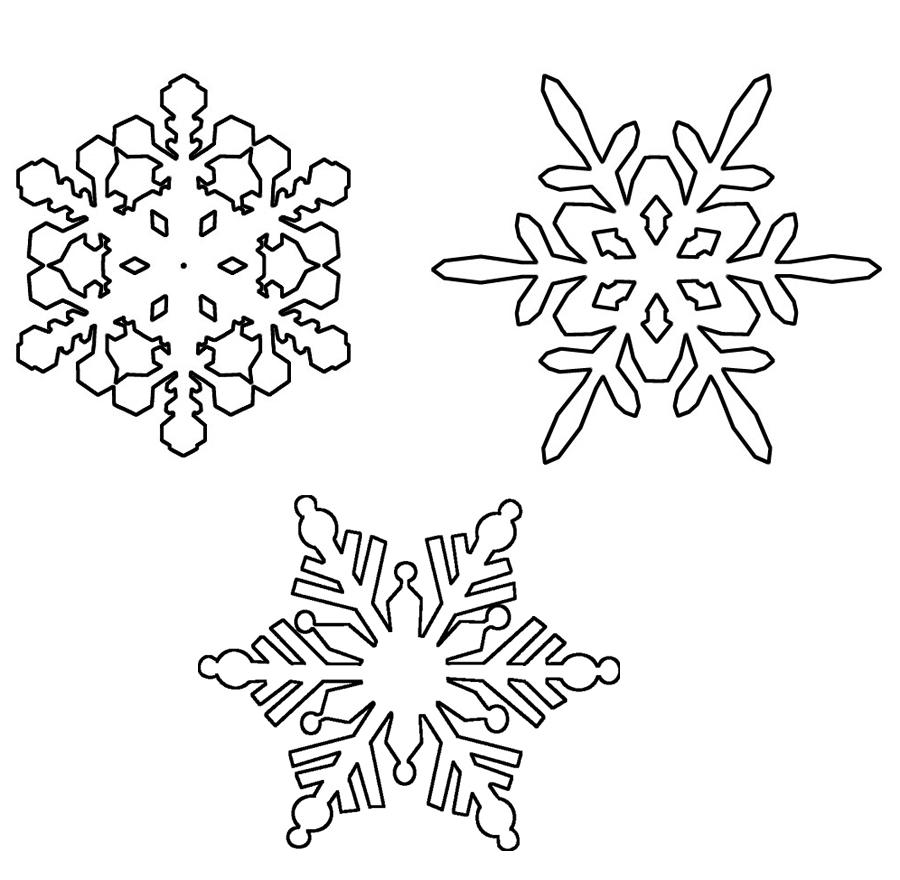 Ausmalbilder, Malvorlagen – Schneeflocken kostenlos zum Ausdrucken