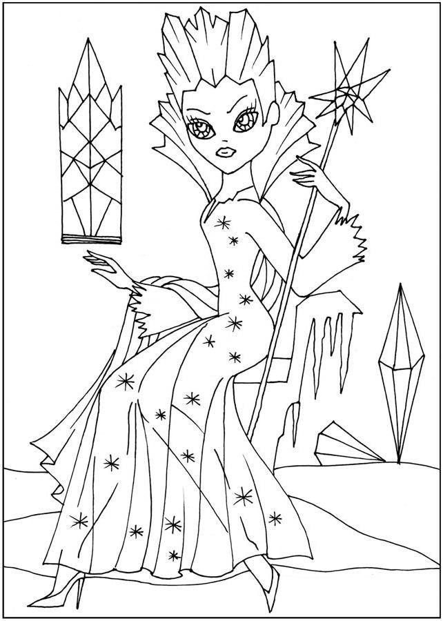ausmalbilder, malvorlagen von schneekönigin kostenlos zum
