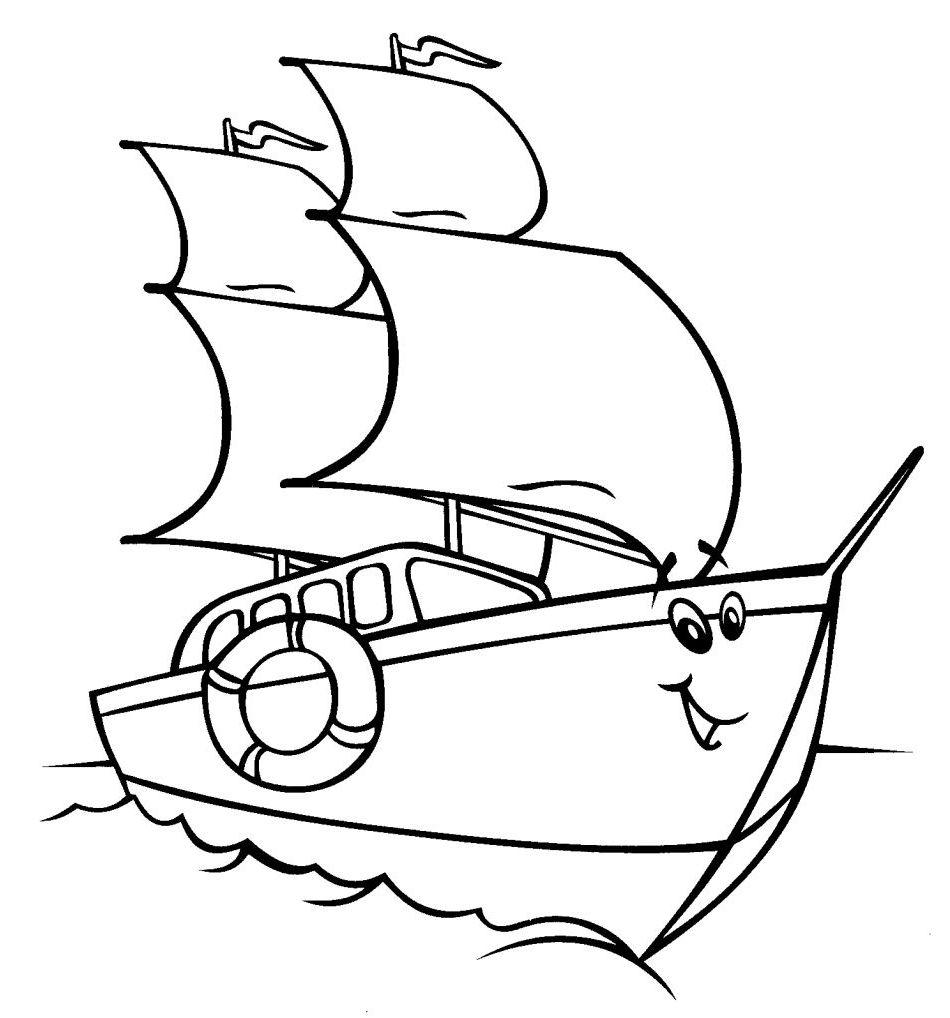 ausmalbilder, malvorlagen - segelschiff kostenlos zum