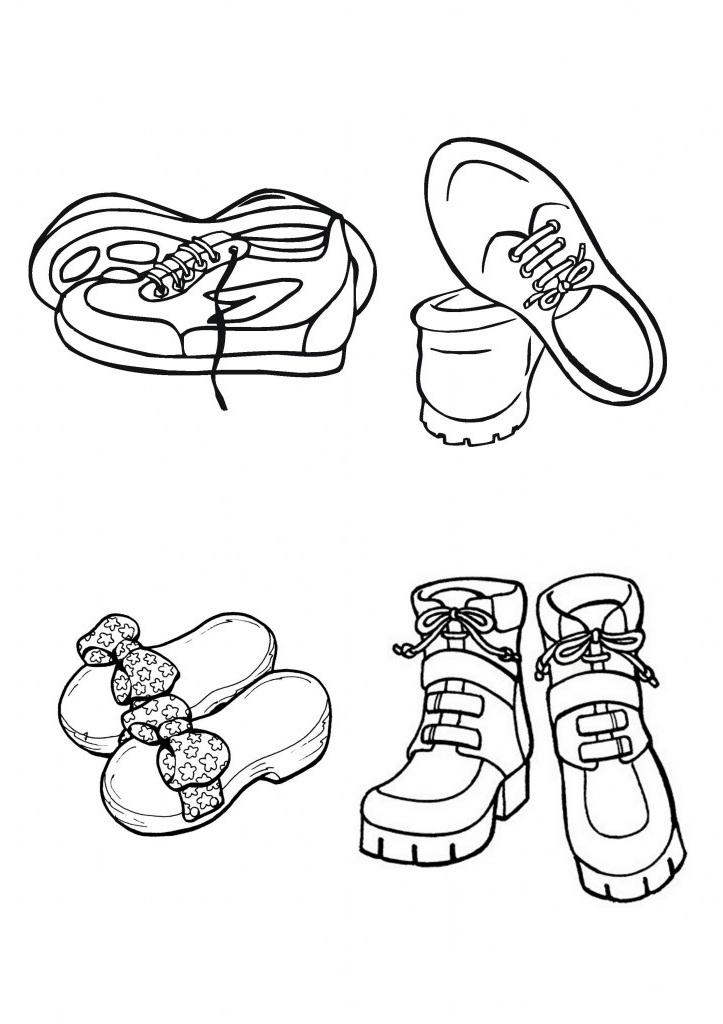 Ausmalbilder Malvorlagen Schuhe Kostenlos Zum Ausdrucken