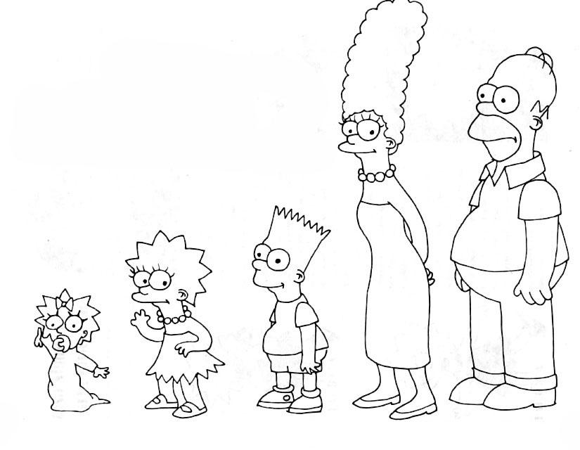 Ausmalbilder, Malvorlagen von Simpsons kostenlos zum Ausdrucken ...