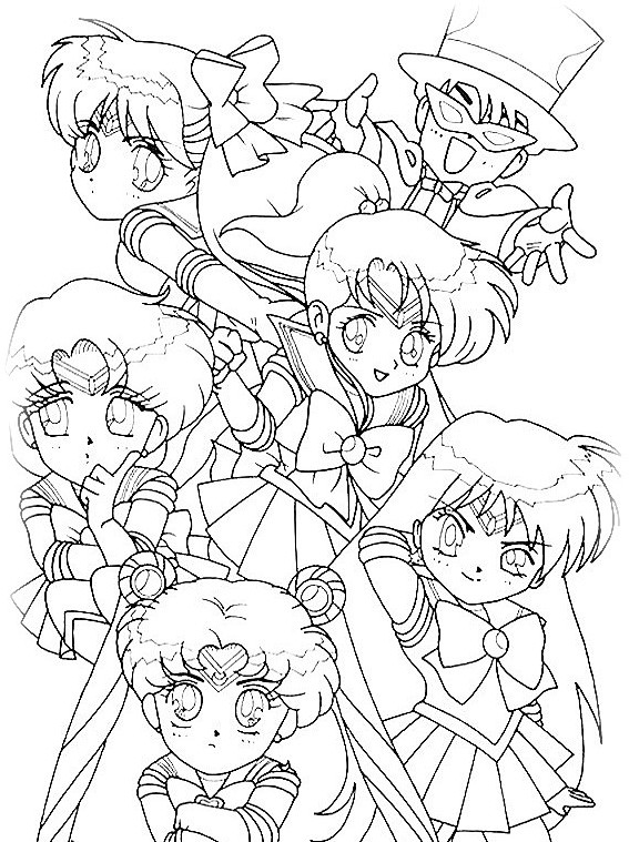 Ailor Moon Coloring Pages Adult