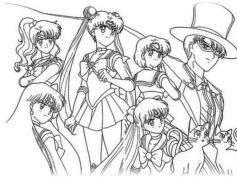 Ausmalbilder Malvorlagen Von Sailor Moon Kostenlos Zum Ausdrucken