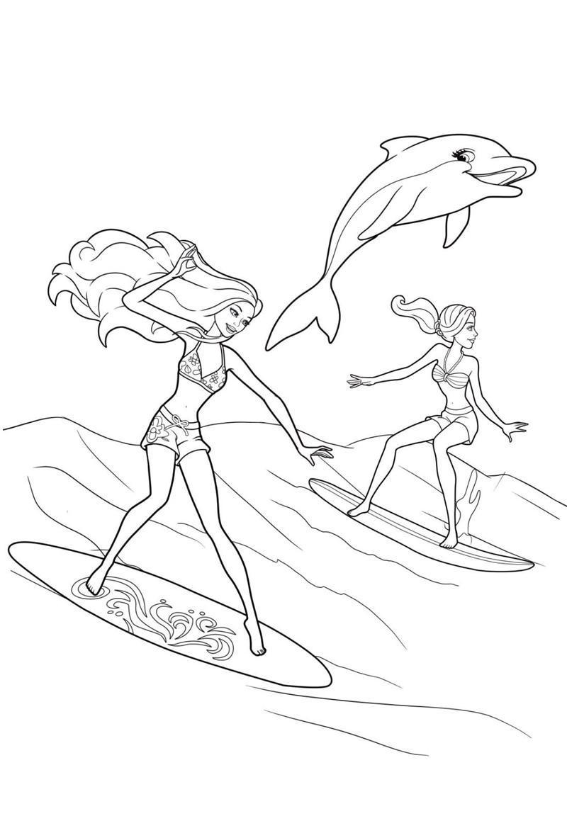 Ausmalbilder, Malvorlagen von Surfen kostenlos zum Ausdrucken ...