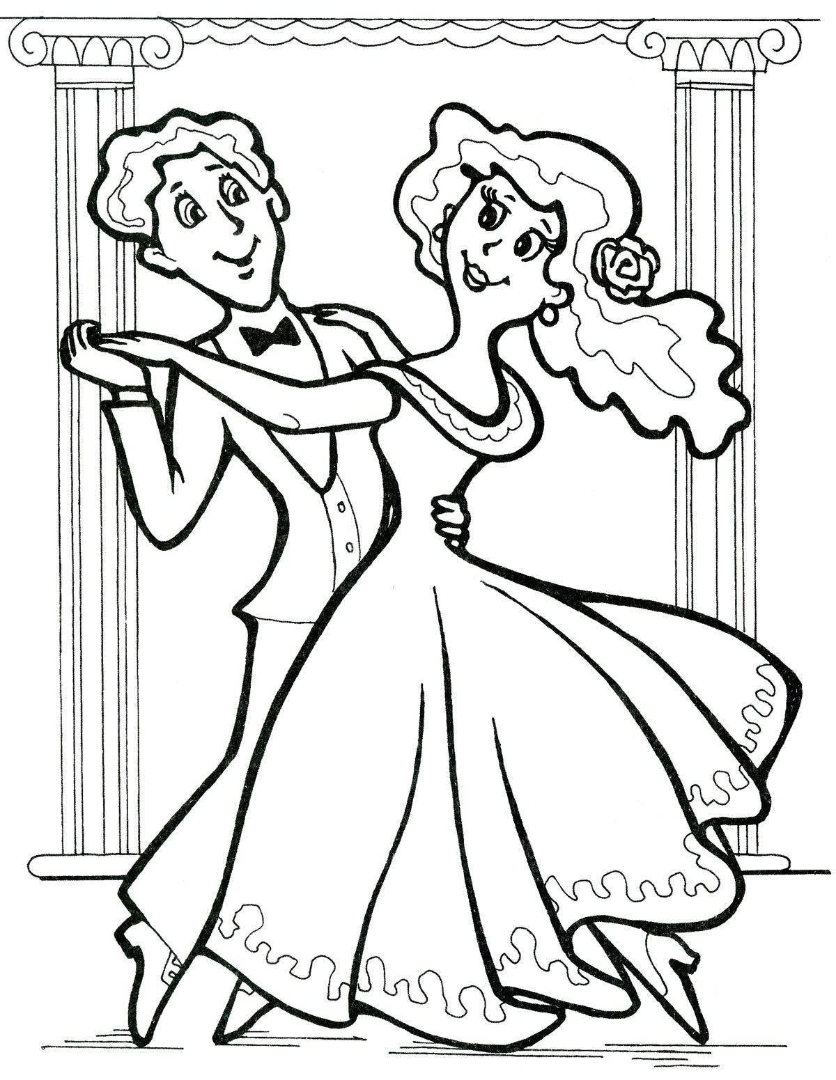 Ausmalbilder, Malvorlagen von Tanzen kostenlos zum Ausdrucken ...