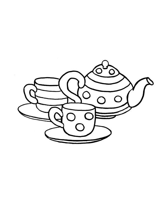 ausmalbilder malvorlagen  teekanne kostenlos zum
