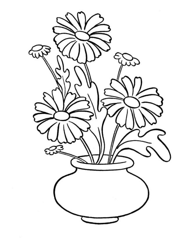 ausmalbilder malvorlagen vase mit blumen kostenlos zum ausdrucken m rchen aus aller welt. Black Bedroom Furniture Sets. Home Design Ideas