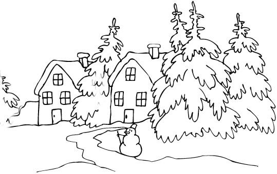Malvorlagen Winterlandschaften | My blog