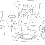 Beim Ausmalen Entwickelt Sich Die Schpferische Fantasie Hier Knnen Sie Ausmalbilder Wohnzimmer Kostenlos Ausdrucken Malvorlagen Fr Kinder