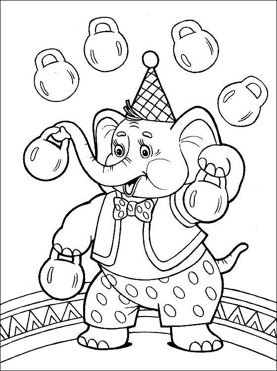 ausmalbilder malvorlagen von zirkus kostenlos zum