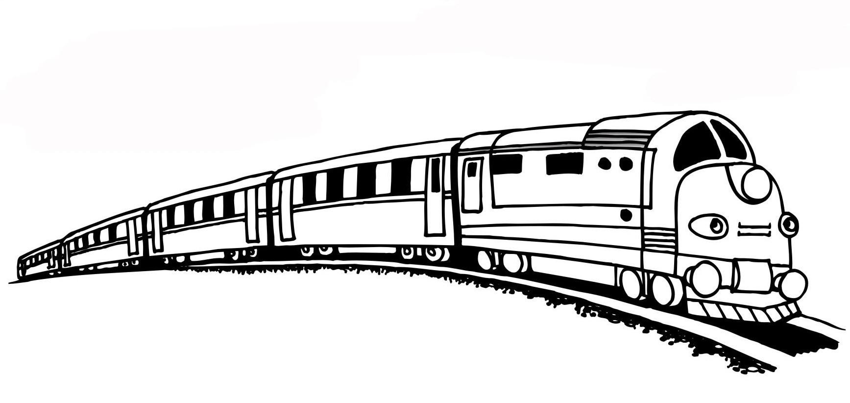 Ausmalbilder, Malvorlagen – Zug kostenlos zum Ausdrucken  Märchen